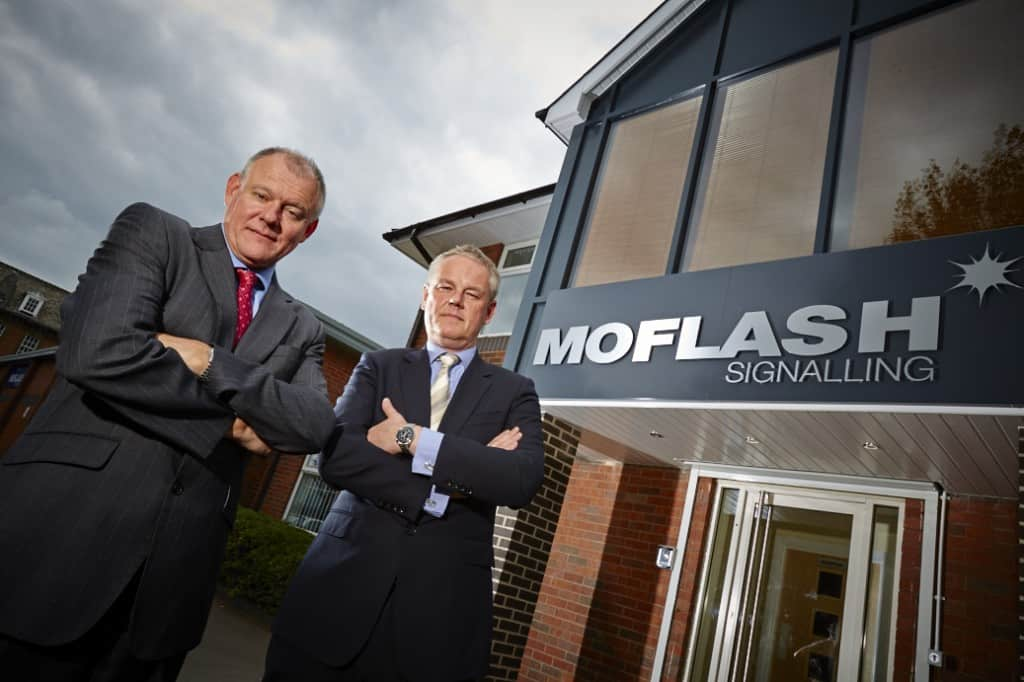 Marc Bailey & Simon Evans At Moflash Office Entrance