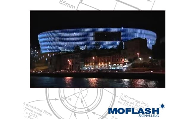 Moflash Xenon Beacons Light Up San Mames Stadium In Spain