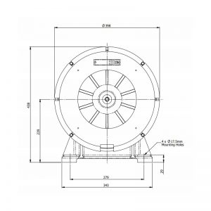 AS600MF & AS700MF FP6 & GP6 Wide Area Signalling Series Industrial Siren - GP6 Technical Drawing - Front