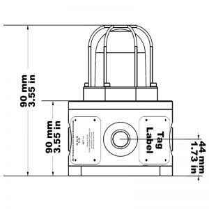 BC125 Explosion Proof Beacons Technical Drawing - Side