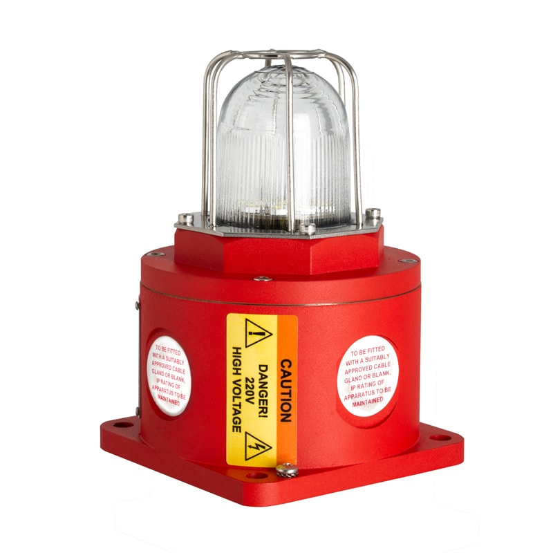 BC125 Series (Stainless Steel) Explosion Proof Beacon - Red