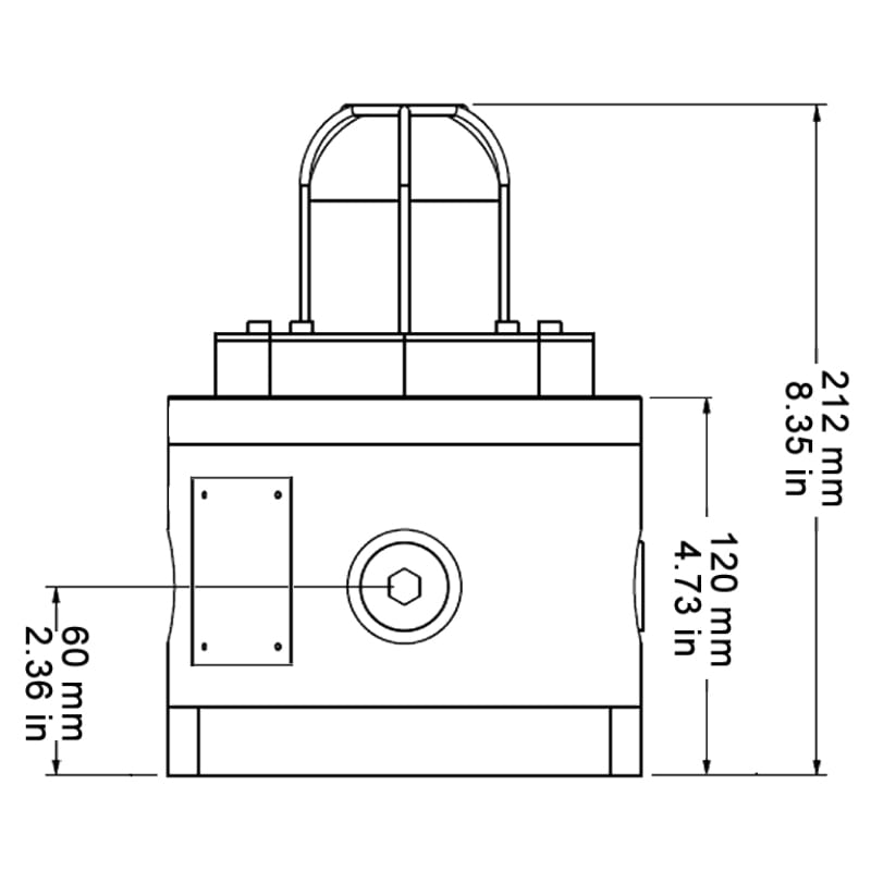 BC150 Explosion Proof Beacons Technical Drawing - Side