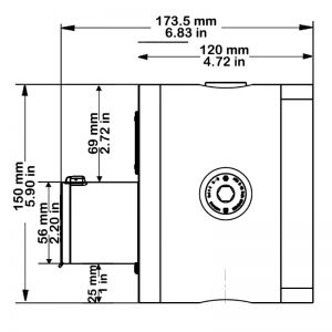 CP150 Technical Drawing - Side