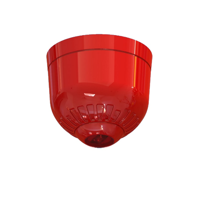 EN54 pt23 Conforming Sonos Pulse - Ceiling Beacon Red