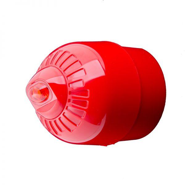 EN54 pt23 Conforming Sonos Pulse - Wall, Beacon, Deep Base, Red Body - Red Flash