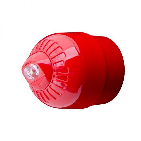 EN54 pt23 Conforming Sonos Pulse - Wall, Beacon, Deep Base, Red Body - White Flash