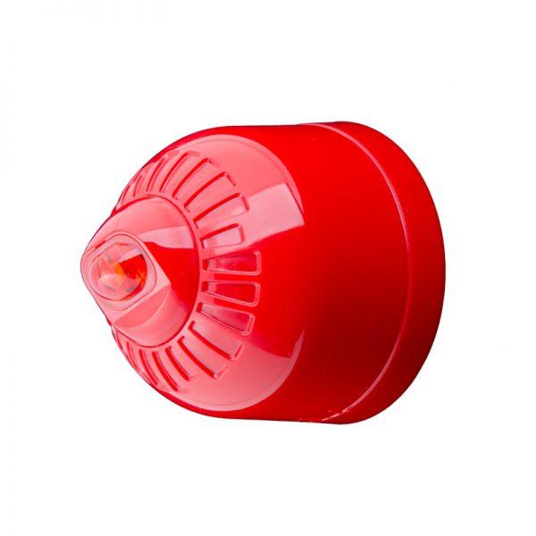 EN54 pt23 Conforming Sonos Pulse - Wall, Beacon, Shallow Base, Red Body - Red Flash