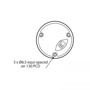 FF401-400 Series Industrial Flashing Filament Beacons Technical Drawing - Base