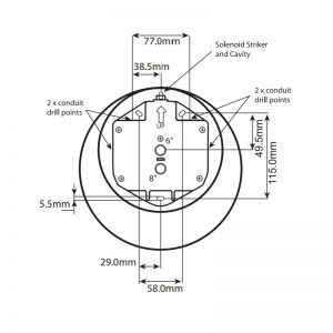 IP66 Industrial & Marine Bell - Technical Drawing Base