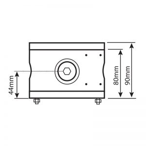 JB125 Explosion Proof Junction Box (Stainless Steel) - Technical Drawing - Side