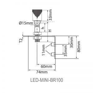 LED-MINI Industrial LED ECO Beacons - Technical Drawing - BR100