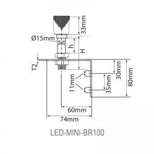 LED-Mini LED éco-balises industrielles-dessin technique-BR100