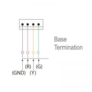 LED-MINI Industrial LED ECO Beacons - Technical Drawing - Base Termination