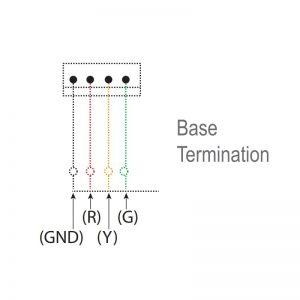 LED-Mini LED Eco-phares industriels-dessin technique-terminaison de base