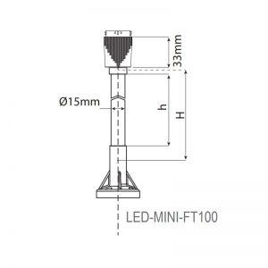 LED-Mini LED éco-balises industrielles-dessin technique-FT100