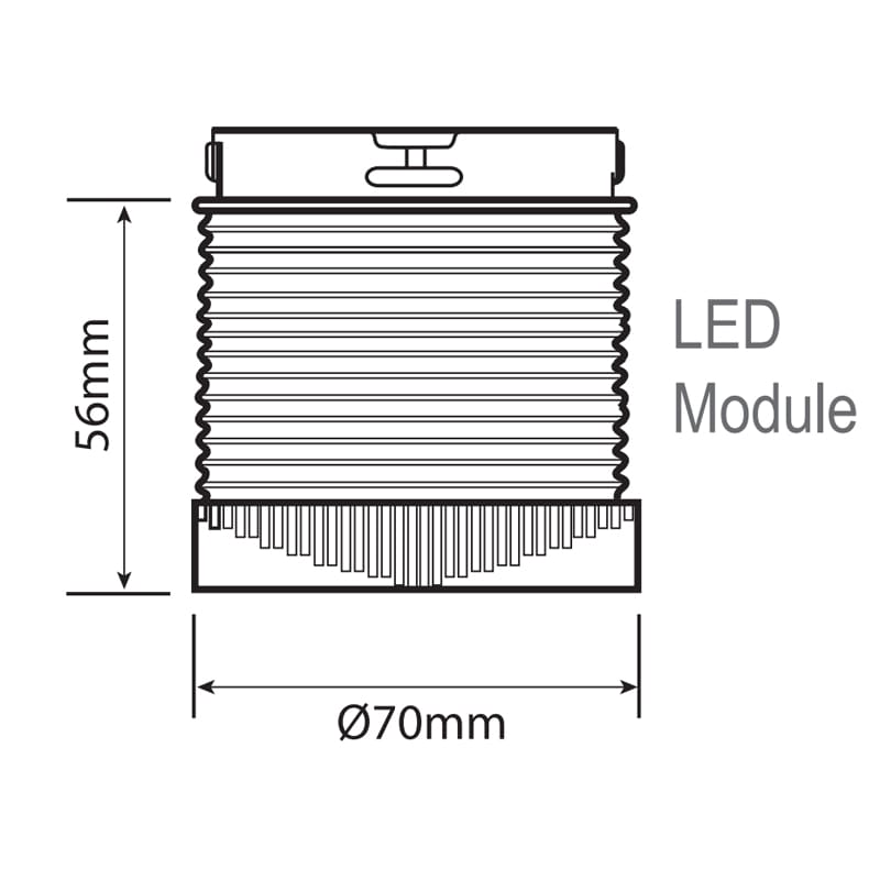 LED-TLM Industrial LED ECO Beacons - Technical Drawing - LED Module