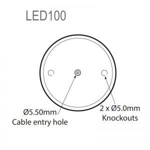 LED100 Industrial LED ECO Beacons - Technical Drawing - Base