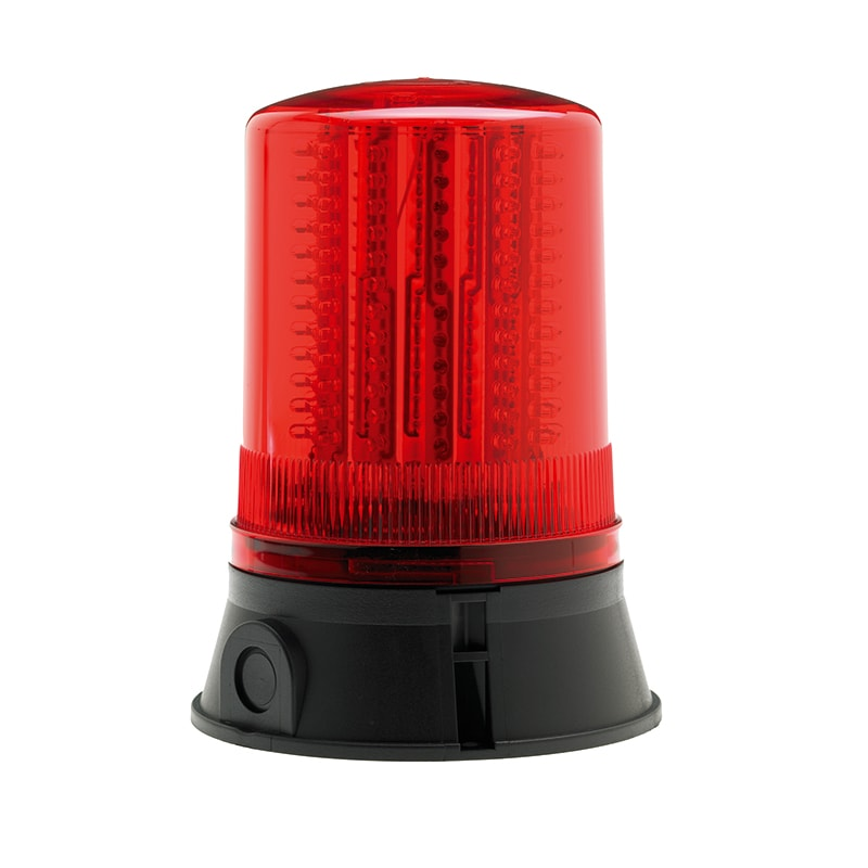 LED401-400 Industrial LED Flashing Rotating Static Beacons - Red