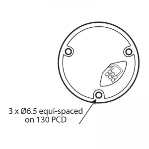LED401-400 Technical Drawing - Base