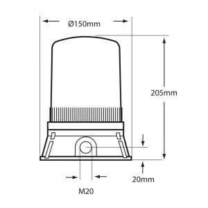 LED401-400 Technical Drawing - Side