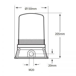 LED401-400 côté dessin technique