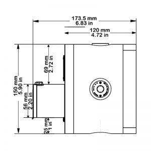 PB150 - Technical Drawing Side