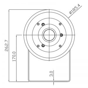 SB125-1 Explosion Proof Sounder Beacons Technical Drawing - Back