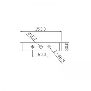 SB125-1 Explosion Proof Sounder Beacons Technical Drawing - Bracket