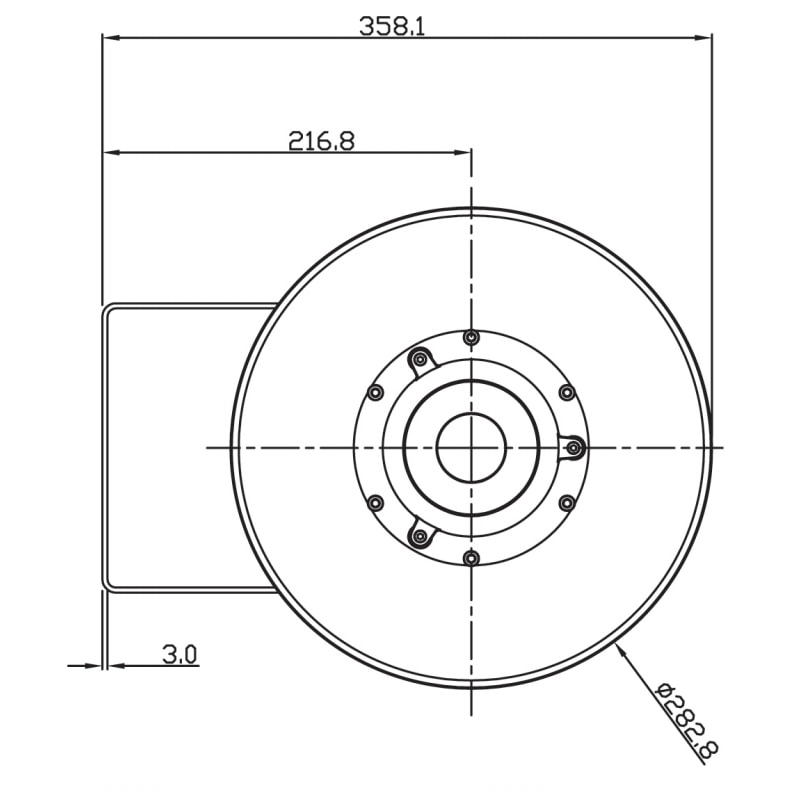 SB150 Explosion Proof Sounder Beacons Technical Drawing - Back