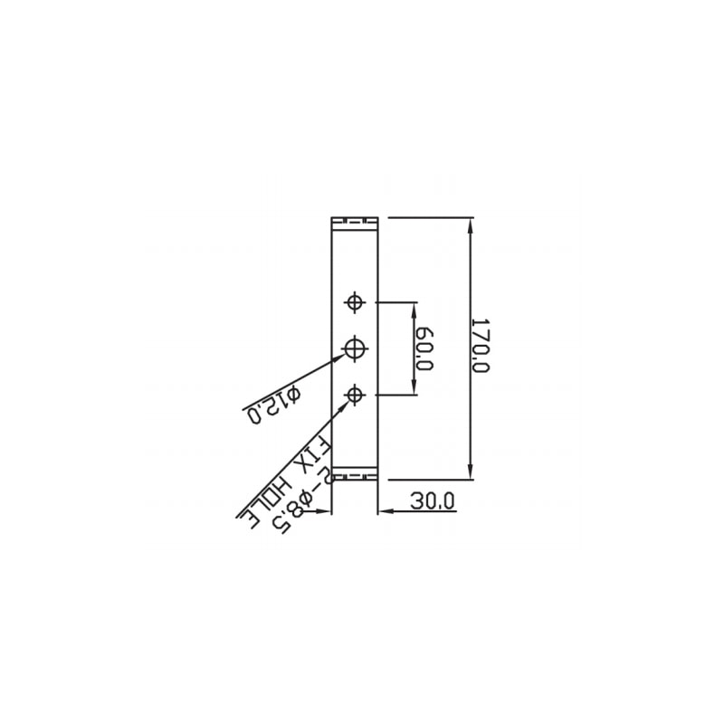 SB150 Explosion Proof Sounder Beacons Technical Drawing - Bracket