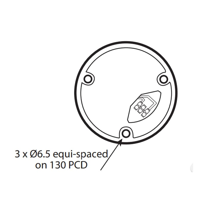 X401 Series Industrial Xenon Beacons - Technical Drawing - Base
