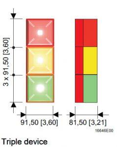 FD40 Triple Unit Technical Diagram