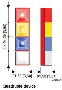 SD40 Quadruple Technical Diagram